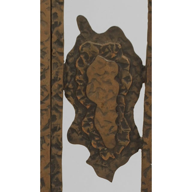 Art Deco French Art Deco Wrought Iron Cheval Mirror For Sale - Image 3 of 6
