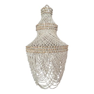 Beaded Shell Chandelier Lantern
