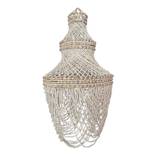 Beaded Shell Chandelier Lantern - Image 1 of 7