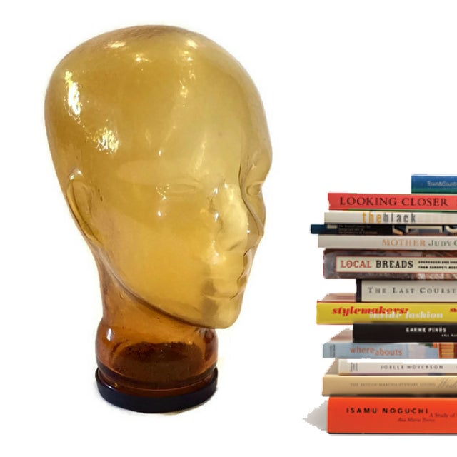 Vintage Glass Head Sculptural Mannequin Head For Sale - Image 4 of 6