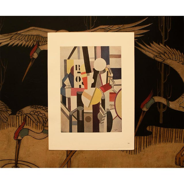 "Abstract 1948 Fernand Leger ""Composition"", First Edition Period Parisian Lithograph For Sale - Image 3 of 8"