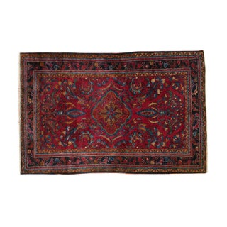 "Vintage Lilihan Rug - 3'4"" x 5' For Sale"