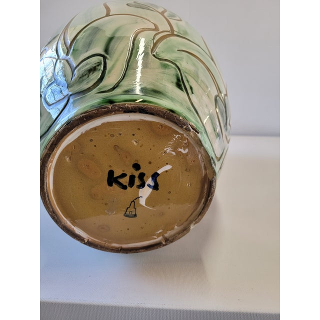 Knabstrup Pottery 1940s Large Studio Pottery Vase by Zoltan Kiss for Knabstrup For Sale - Image 4 of 8