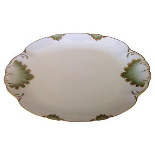 Mint & Gilt French Platter For Sale
