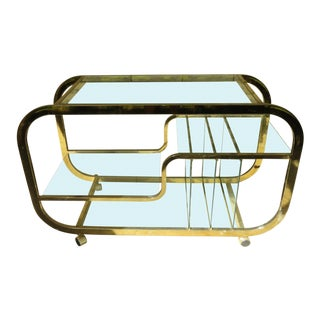 1970s Mid-Century Chrome Bar Cart For Sale