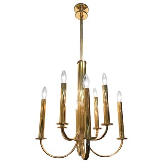 Italian, 1930s Fascist Period Art Deco Chandelier For Sale