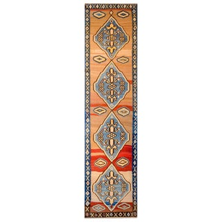 Bold Early 20th Century Azari Kilim Runner For Sale