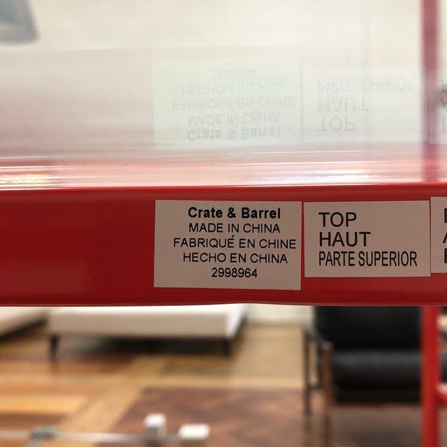 Glass Crate & Barrel Pilsen Paprika Bookcase For Sale - Image 7 of 8