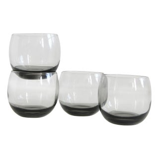 Smoked Grey Ball Glasses - Set of 4