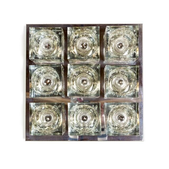 Lightolier Glass Blocks 9-Light Flush Mount For Sale - Image 13 of 13