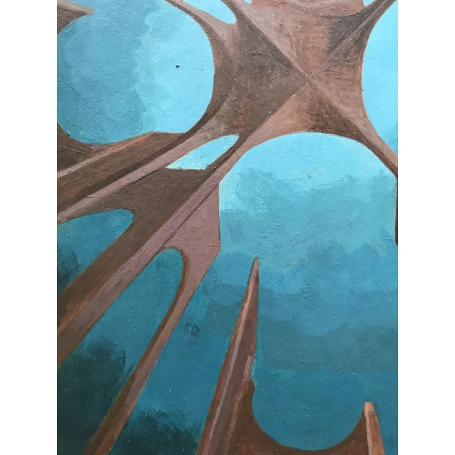 Paper 1970s Futuristic Study Acrylic on Board For Sale - Image 7 of 9