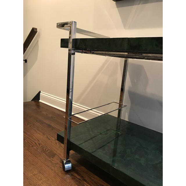 Green Maddox Maln Bar Cart For Sale - Image 8 of 13
