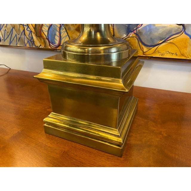 Pair of 1970s Chapman Manufacturing Vintage Brass Lamps For Sale In New York - Image 6 of 13