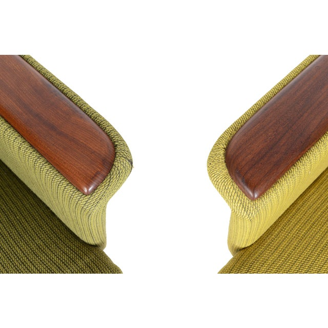 Danish Modern Teak Pawed Lounge Chairs - A Pair - Image 9 of 10