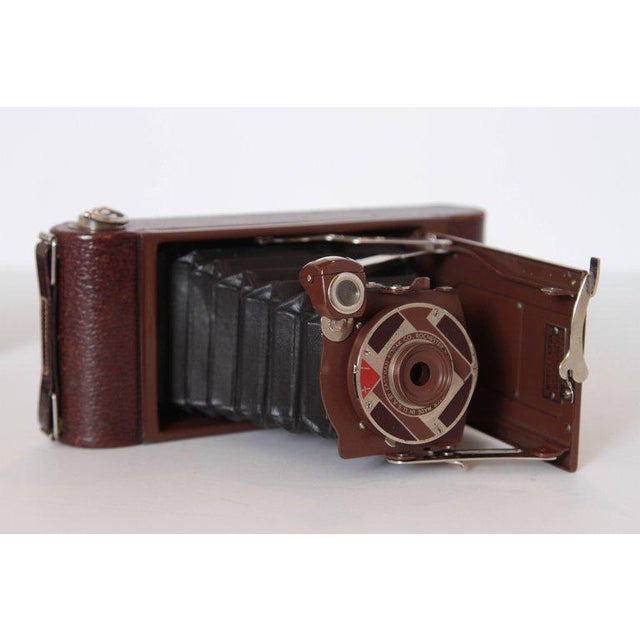 Art Deco Machine Age Art Deco Walter Dorwin Teague Kodak Gift 1A Camera with Case For Sale - Image 3 of 11