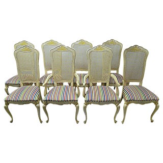 Italian Dining Chairs - Set of 8 For Sale
