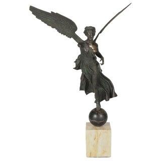 19th Century Italian Grand Tour Bronze Figure of Nike For Sale