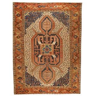 Antique 19th Century Persian Bakshaish Carpet For Sale