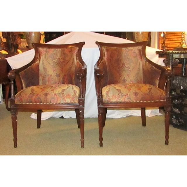 Regency Side Chairs - Pair - Image 2 of 6