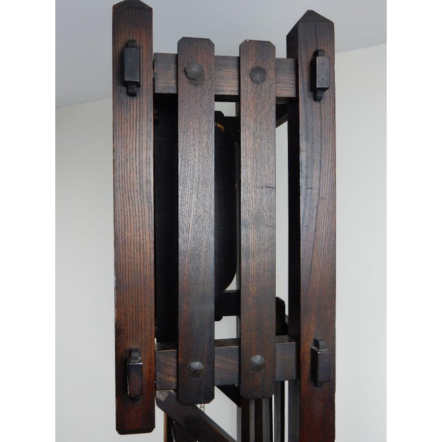 Antique Mission Arts & Crafts Tall Clock For Sale - Image 10 of 11