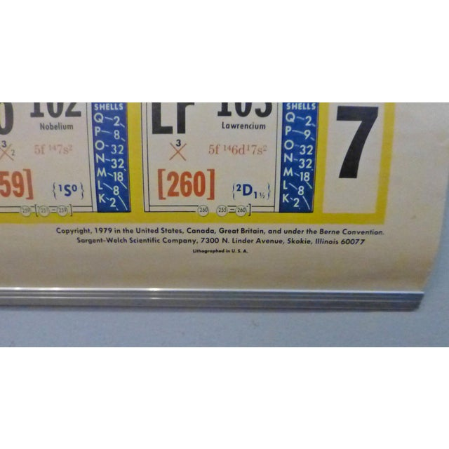 Modern Vintage 1979 Periodic Chart of the Atoms Classroom Teaching Aid For Sale - Image 3 of 8