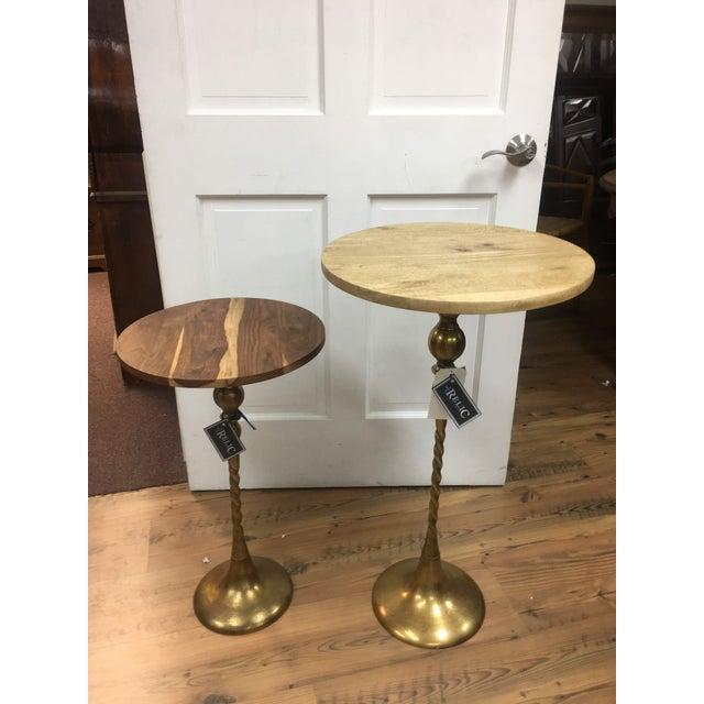 Mid-Century Modern Sheesham Wood Brass Side Table For Sale In Denver - Image 6 of 12