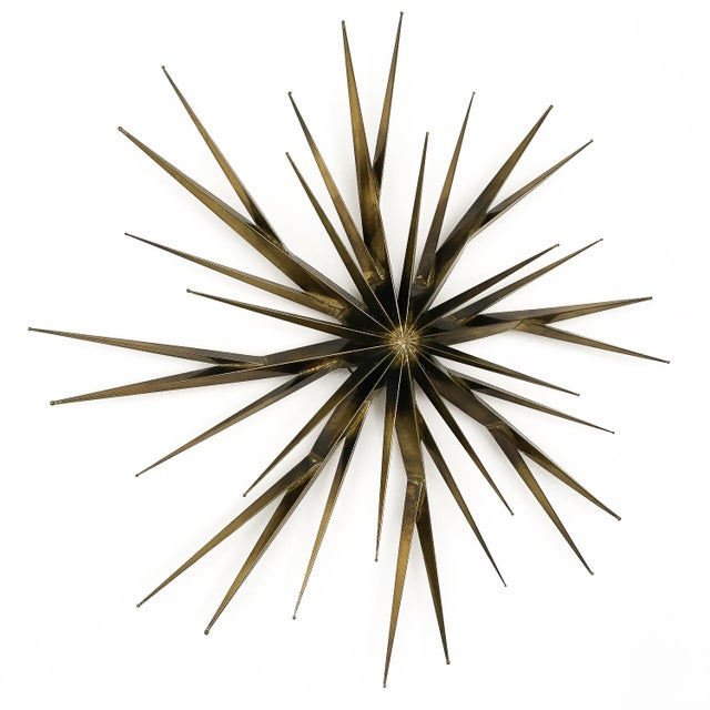 Curtis Jere Patinated Brass Branching Starburst Wall Sculpture, 1981 For Sale - Image 10 of 11