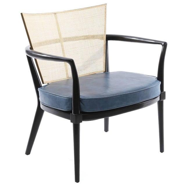 Animal Skin 1950s Bert England for Johnson Ebonized Lounge Chair For Sale - Image 7 of 7