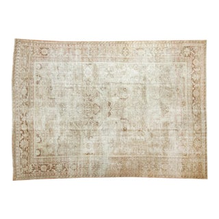 "Vintage Distressed Mahal Carpet - 7'3"" X 9'11"""