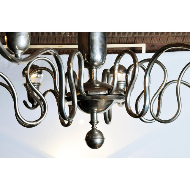Art Deco Early 20th Century Hungarian Art Deco Chandelier For Sale - Image 3 of 9