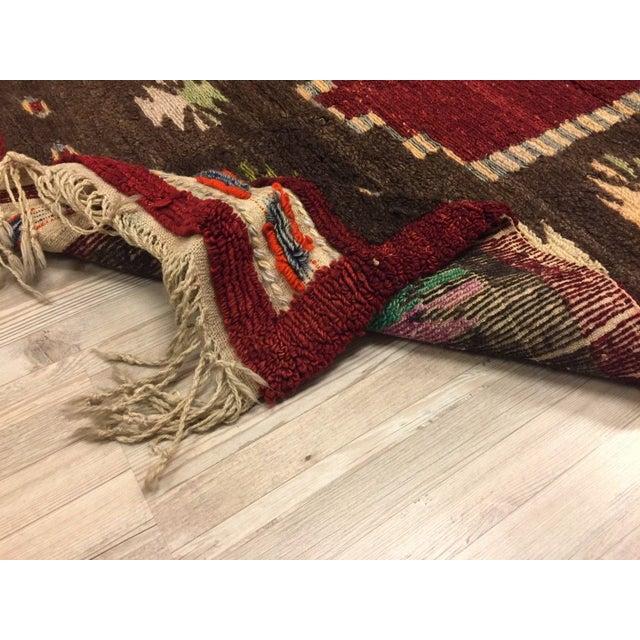 Vintage Turkish Tribal Angora Rug - 3′3″ × 4′5″ - Image 7 of 7