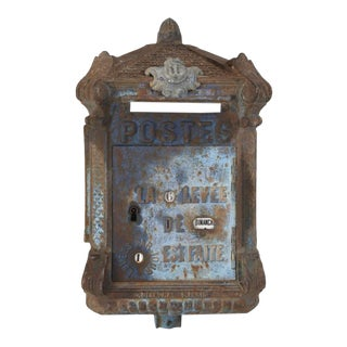 Antique French Mailbox by Delachanal Paris For Sale
