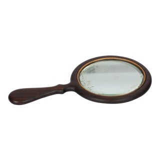 Vintage Rosewood Hand Mirror For Sale