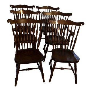 1920s Sprague and Carlson Inc. Windsor Dining Chairs-Set of 6 For Sale