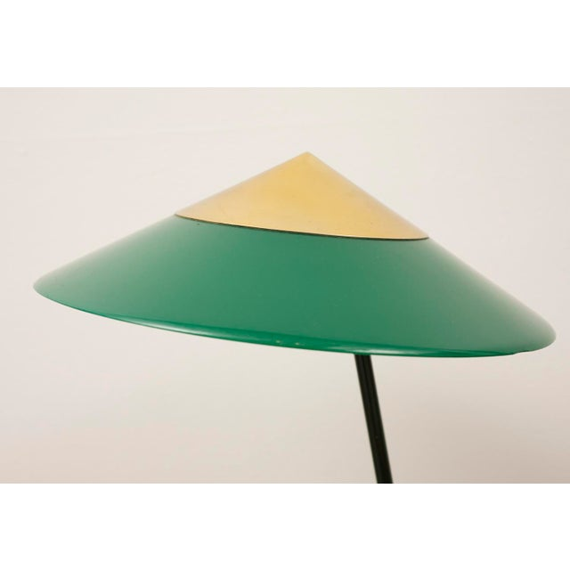 Mid-Century Modern Elegant Table Lamp by Stilux Milano in Brass, Marble and Perspex. Italy, 1950s. For Sale - Image 3 of 12