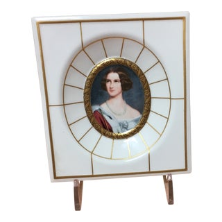 Bavarian Crown Princess Marie Mini-Portrait Porcelain Plaque