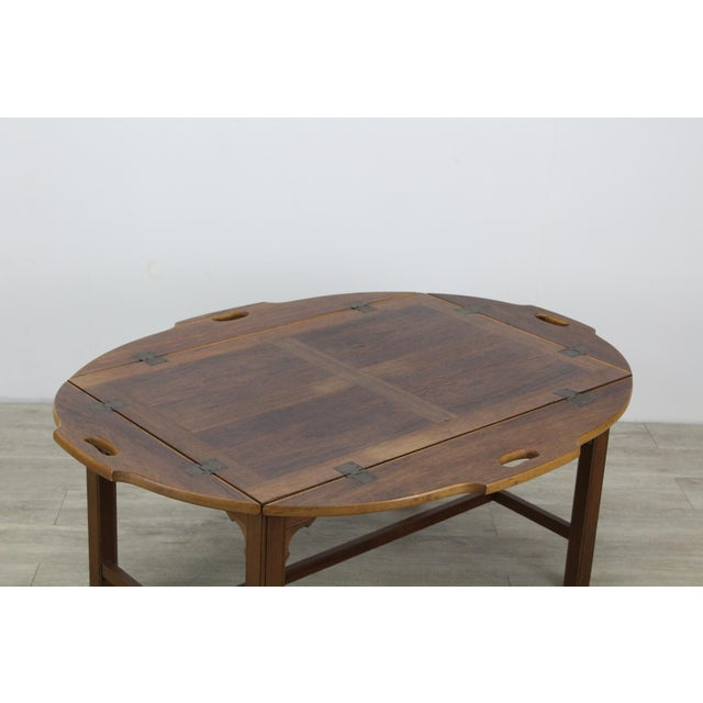 Mid-Century Walnut Tray Table For Sale - Image 9 of 12