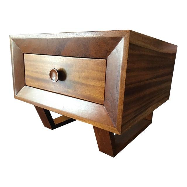 1970s Scandinavian Modern Teak Oversized Side Table For Sale