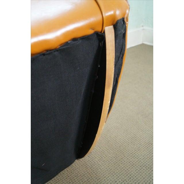 Unusual Italian Leather Rocking Lounge Chair - Image 7 of 10