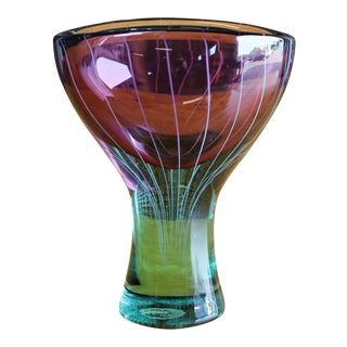 1965 Salviati & Co. Art Glass Chalice Vase
