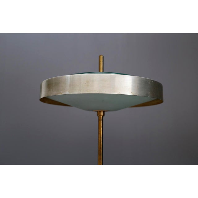 Lumi Oscar Torlasco MidCentury Table Lamp in Brass and Cased Glass by Lumi 1950s For Sale - Image 4 of 9