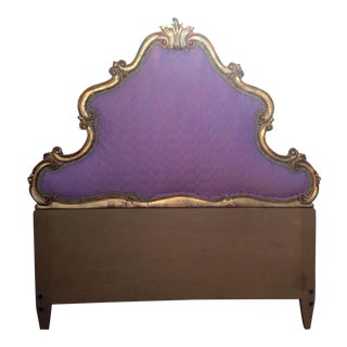 1930s Vintage Italian Roccoco Style Headboard For Sale