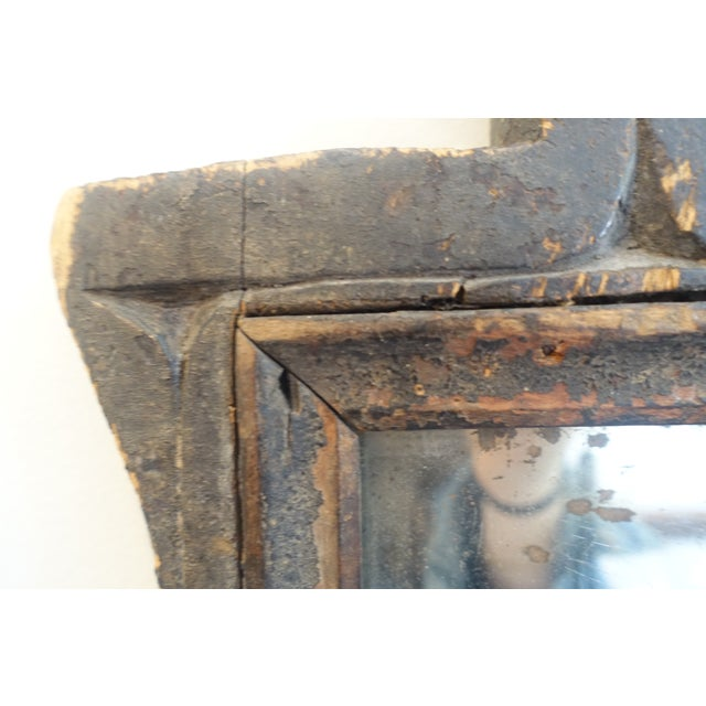 Wood Primitive Wood Mirror For Sale - Image 7 of 13