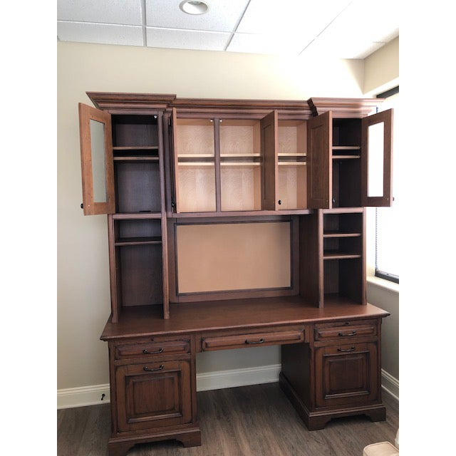 Custom Built Desk With Storage Cabinetry For Sale - Image 6 of 12