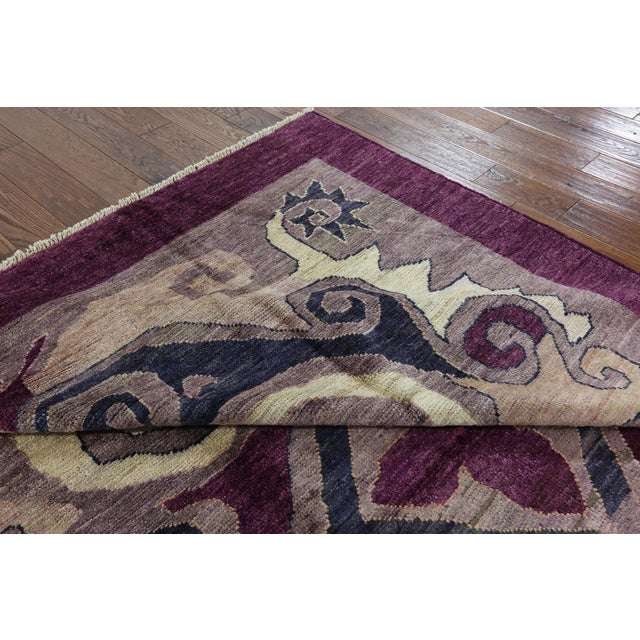 "Modern Signed Kaitag Hand Knotted Rug - 7' 8"" X 9' 10"" - Image 6 of 8"