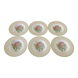 "Modern Villeroy & Boch ""Florea Floris"" Pattern Set of 6 Soup Bowls 9.5""d For Sale"