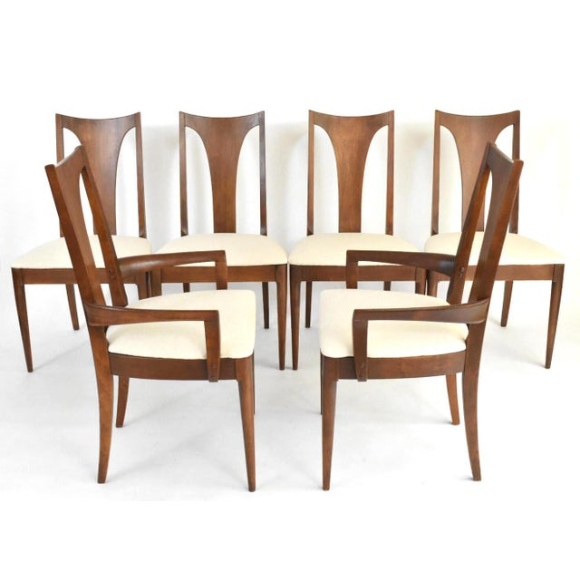 Mid-Century Broyhill Premiere Dining Chairs - Set of 6 - Image 3 of 10