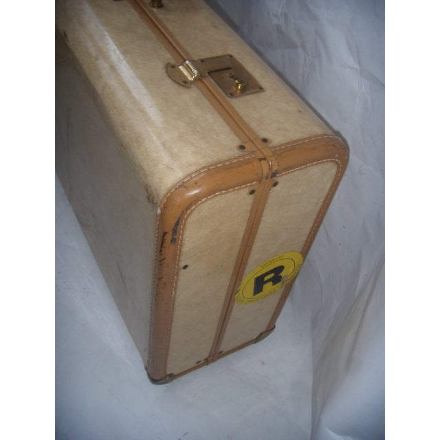 Mid Century Penney's Towncraft Vinyl Suitcase For Sale In New York - Image 6 of 10