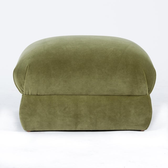 Casa Cosima Milan Ottoman in Olive Velvet For Sale In Los Angeles - Image 6 of 6