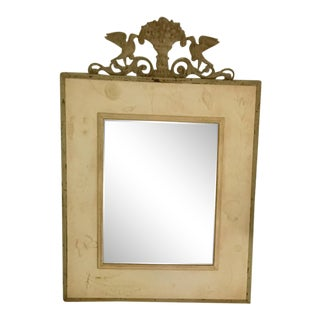 Traditional Hand Painted Metal Mirror